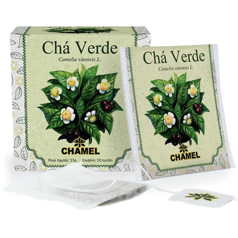 Chá de Chá verde com 10 Sachês - Chamel