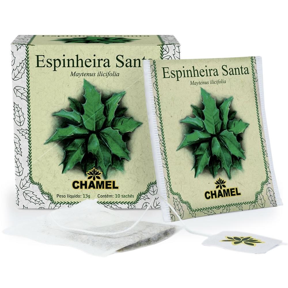 Chá de Espinheira Santa com 10 Sachês - Chamel ****