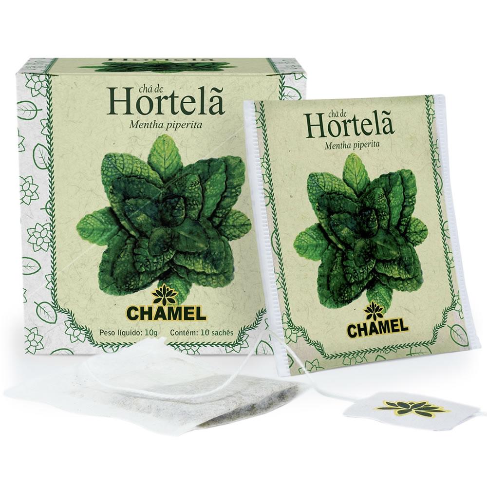 Chá de Hortelã com 10 Sachês - Chamel