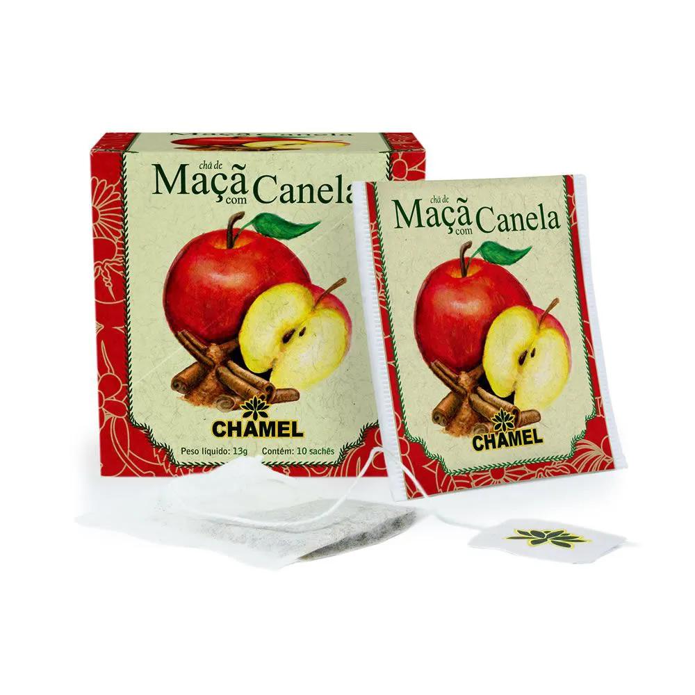 Chá de Maçã e Canela com 10 Sachês - Chamel