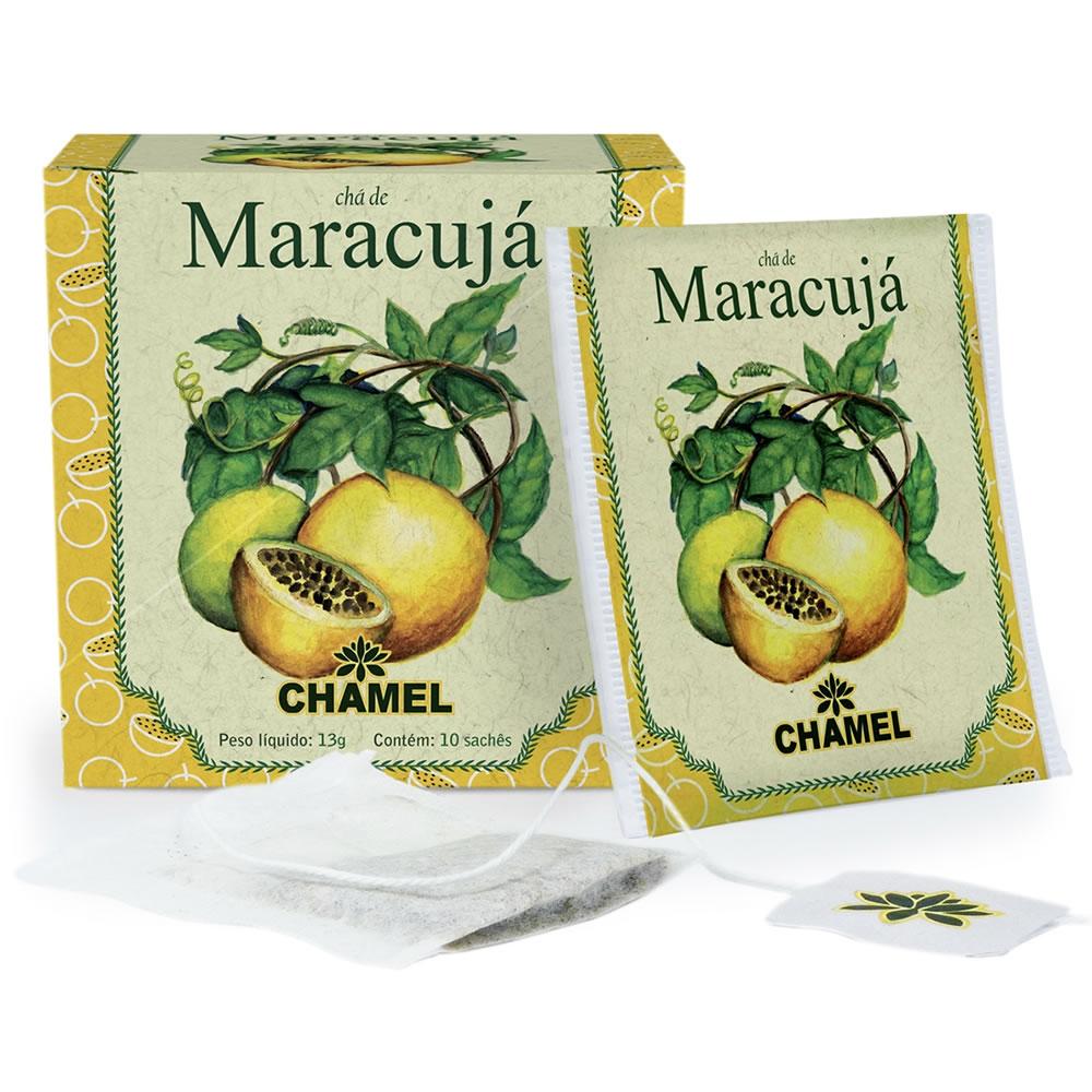 Chá de Maracujá com 10 Sachês - Chamel