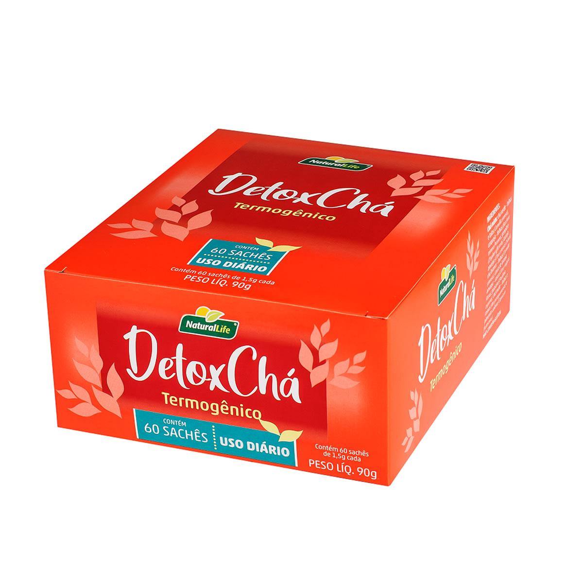 Chá DetoxChá Termogênico Display com 60 Sachês de 1,5g - NaturalLife