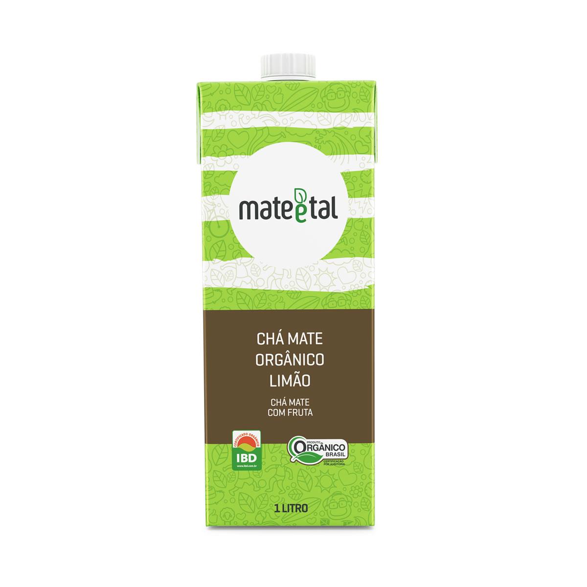 Chá Mate Orgânico Sabor Limão 1L - Mate e Tal