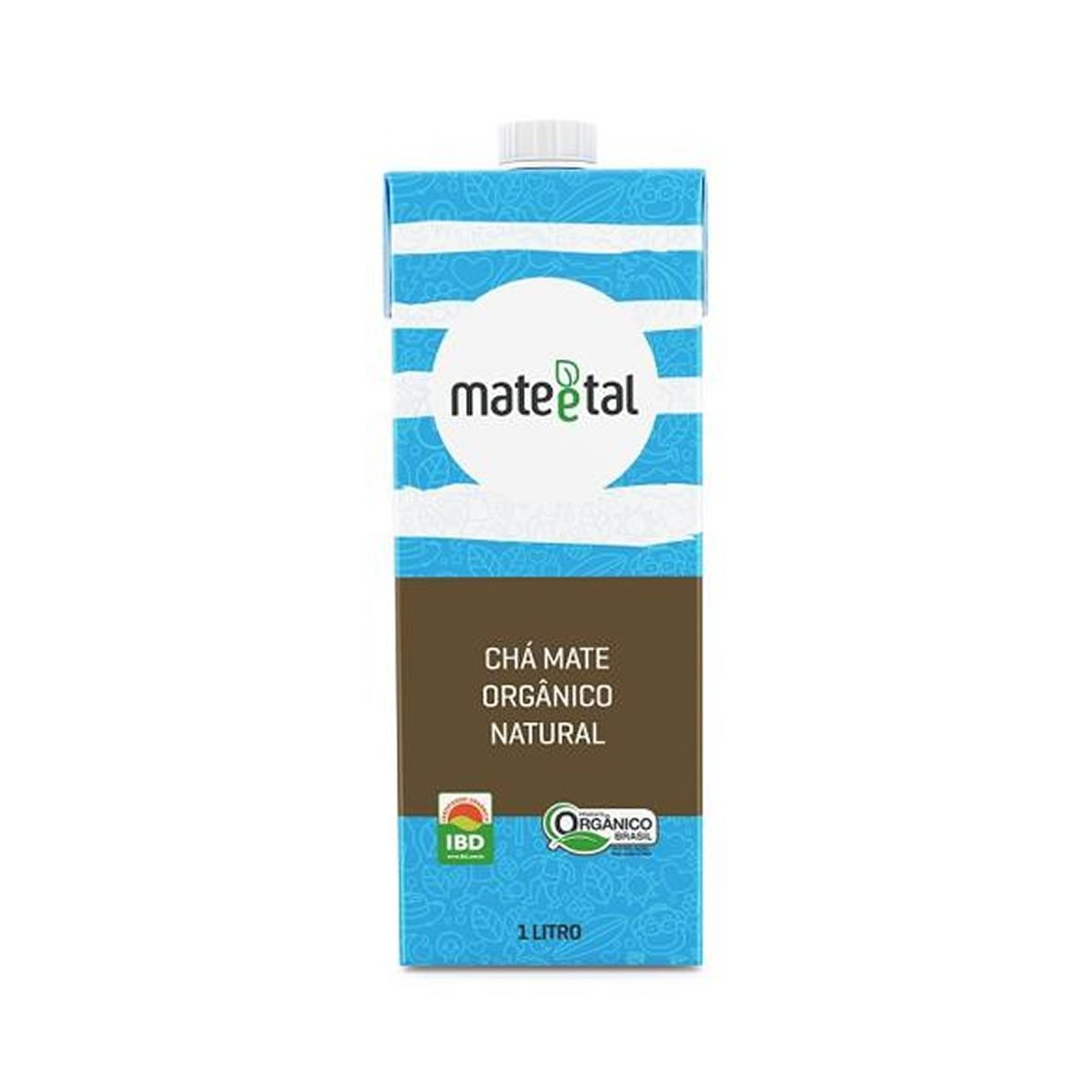 Chá Mate Orgânico Sabor Natural 1L - Mate e Tal
