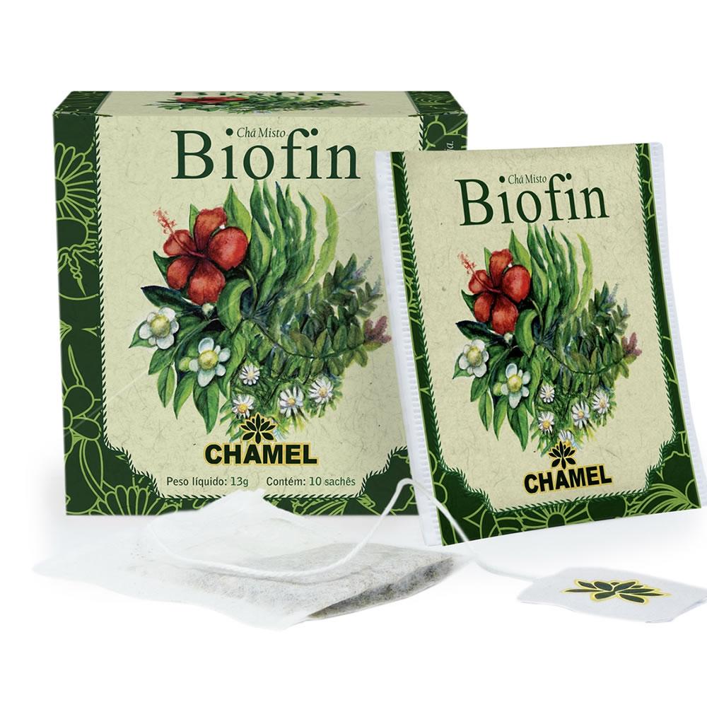 Chá Misto Biofin (Chá Verde, Boldo, Hibiscus e Carqueja) com 10 Sachês - Chamel