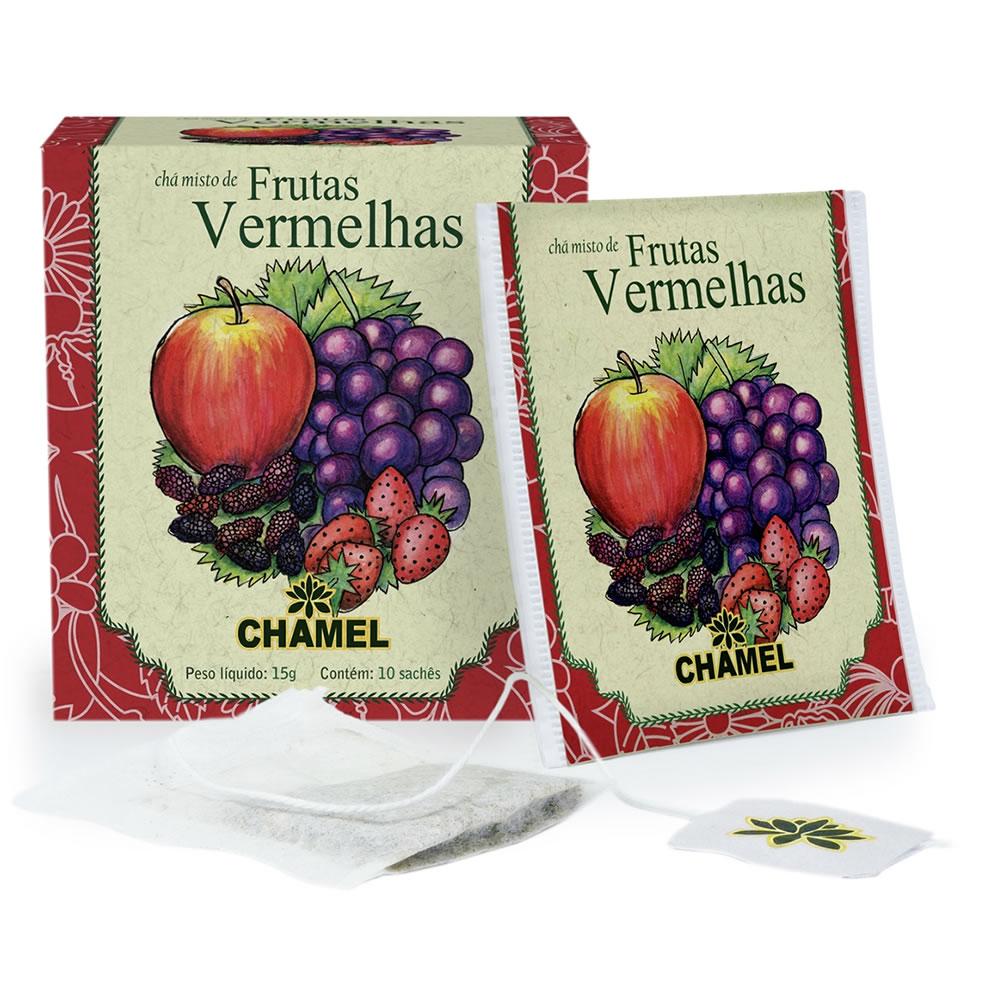 Chá Misto de Frutas Vermelhas com 10 Sachês - Chamel