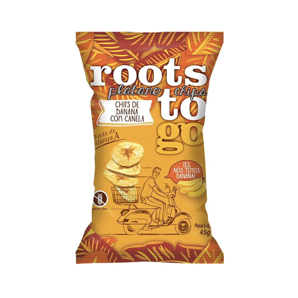Chips Banana com Canela 45g - Roots To Go