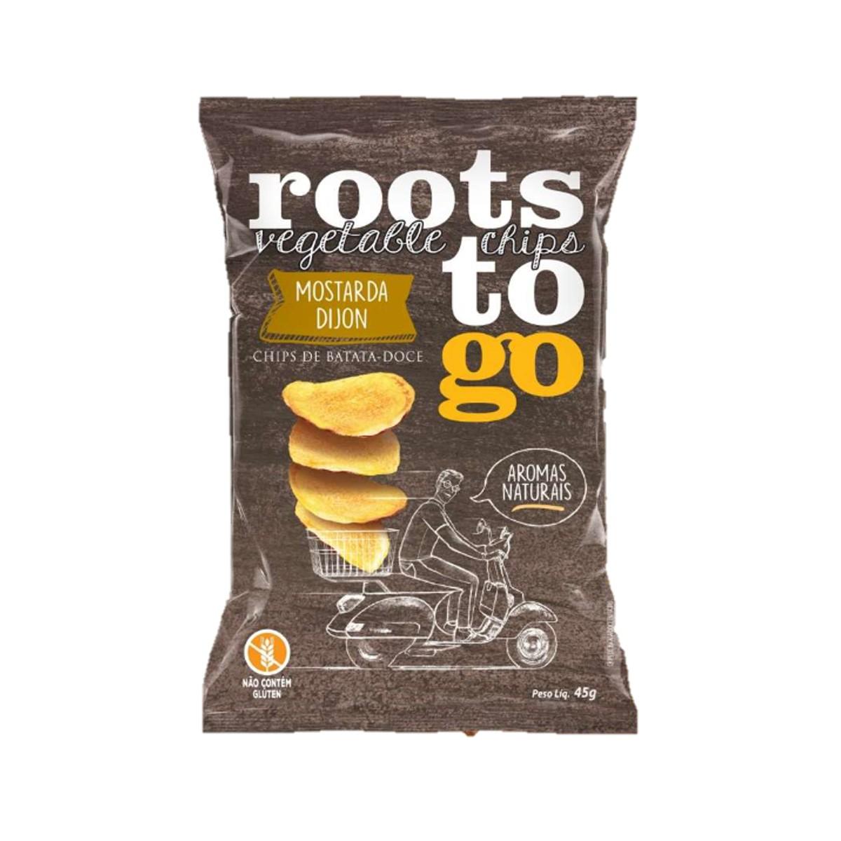 Chips de Batata Doce Sabor Mostarda Dijon 45g - Roots To Go
