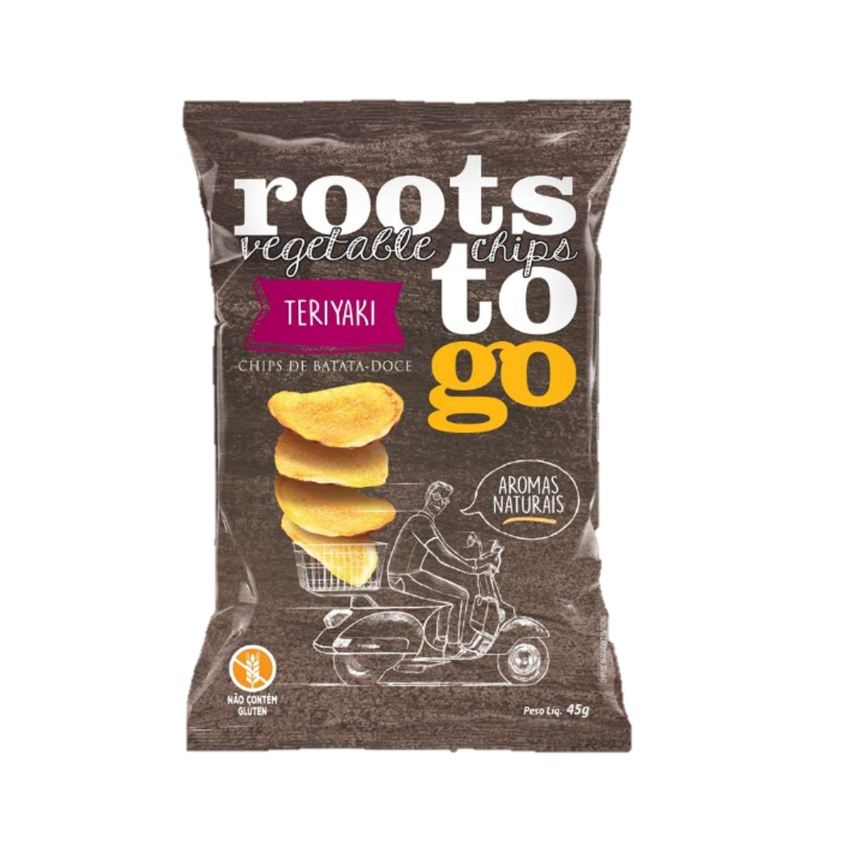 Chips de Batata Doce Sabor Teriyaki 45g - Roots To Go