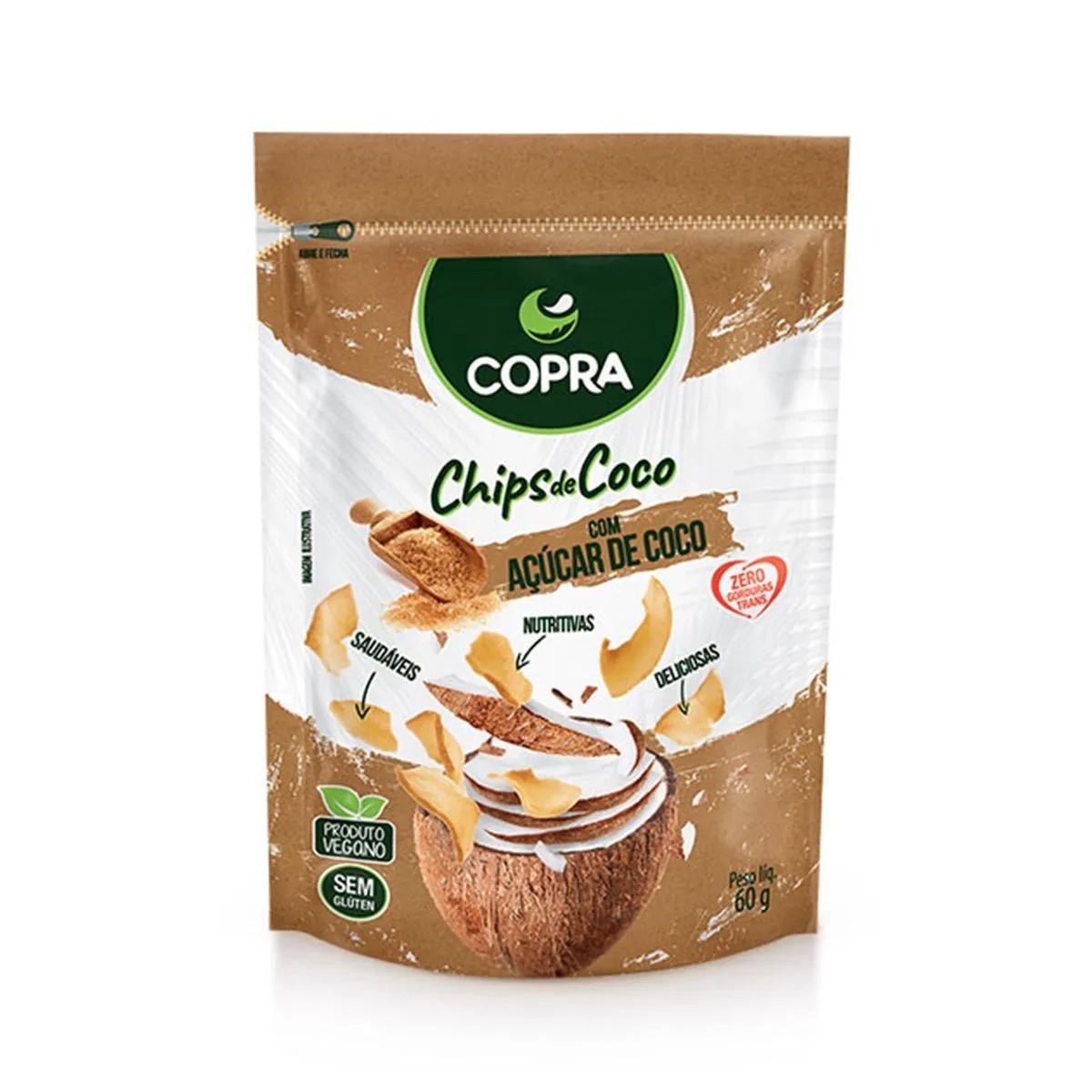 Chips de Coco com Açúcar de Coco 60g - Copra