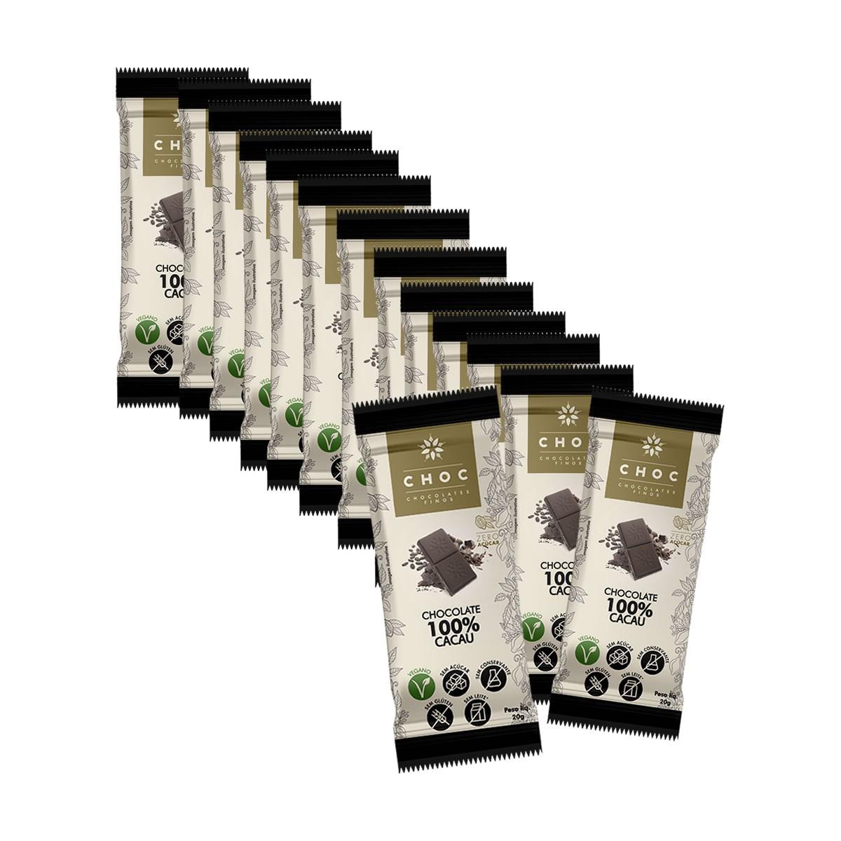Chocolate Zero 100% Cacau display com 14un de 20g - Choc