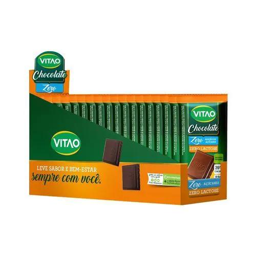 Chocolate Zero Lactose e Zero Açúcar com 24 unidades de 22g - Vitao
