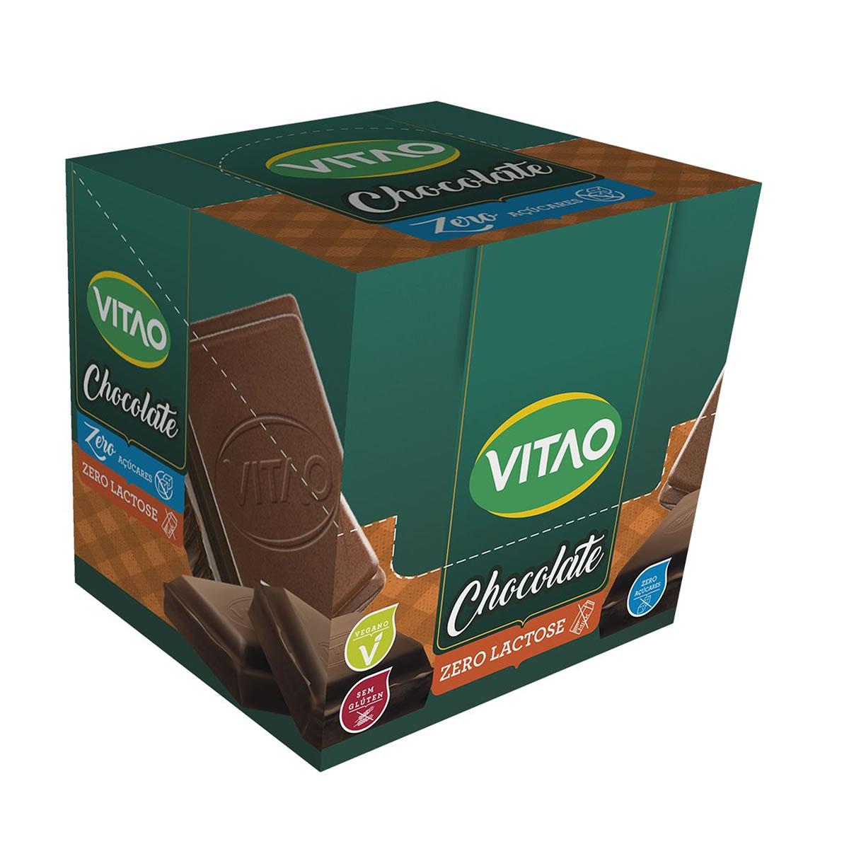 Chocolate Zero Lactose e Zero Açúcar com Cereais 18 un de 30g - Vitao