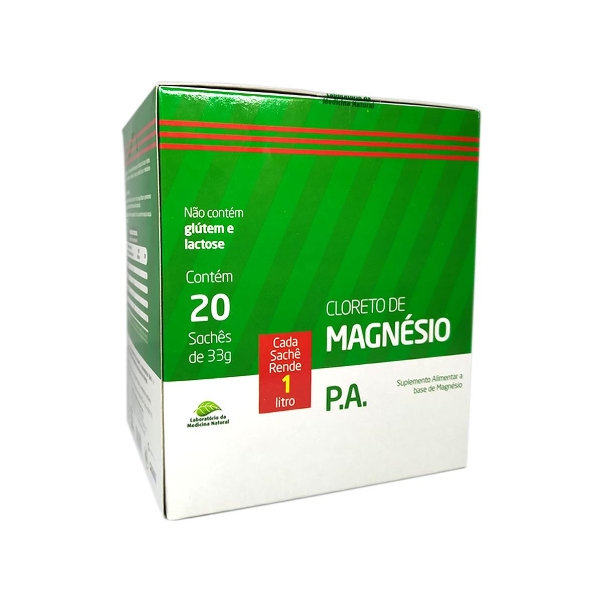 Cloreto de Magnésio PA Display com 20 sachês de 33g - Medinal