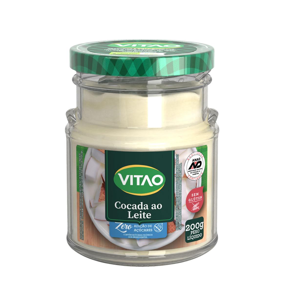 Cocada ao Leite Zero Açúcar 200g - Vitao