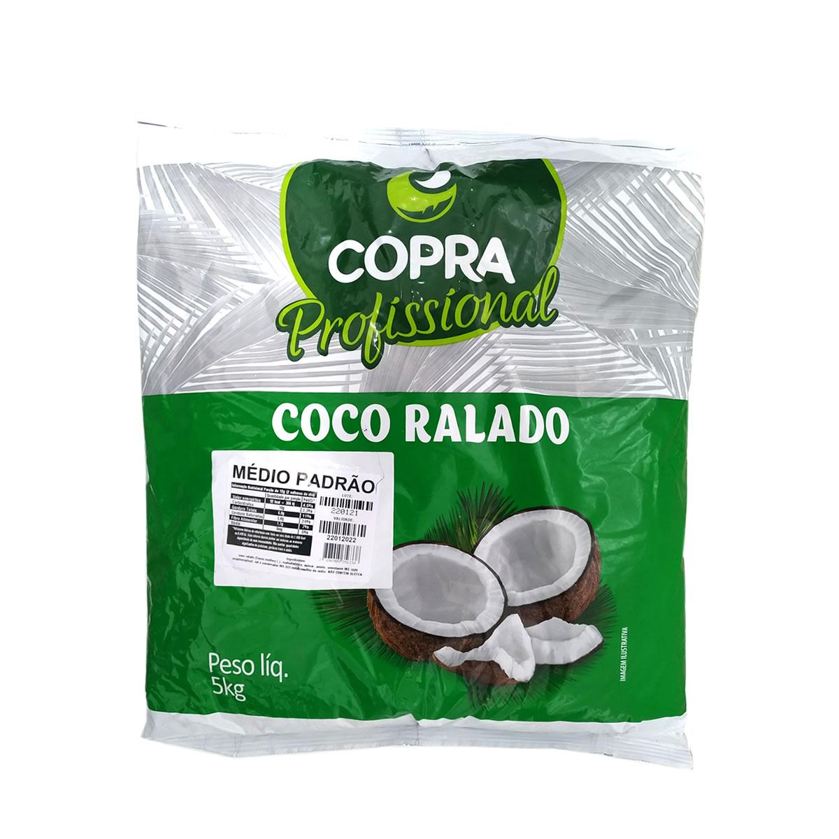 Coco Ralado Médio Padrão 5kg - Copra