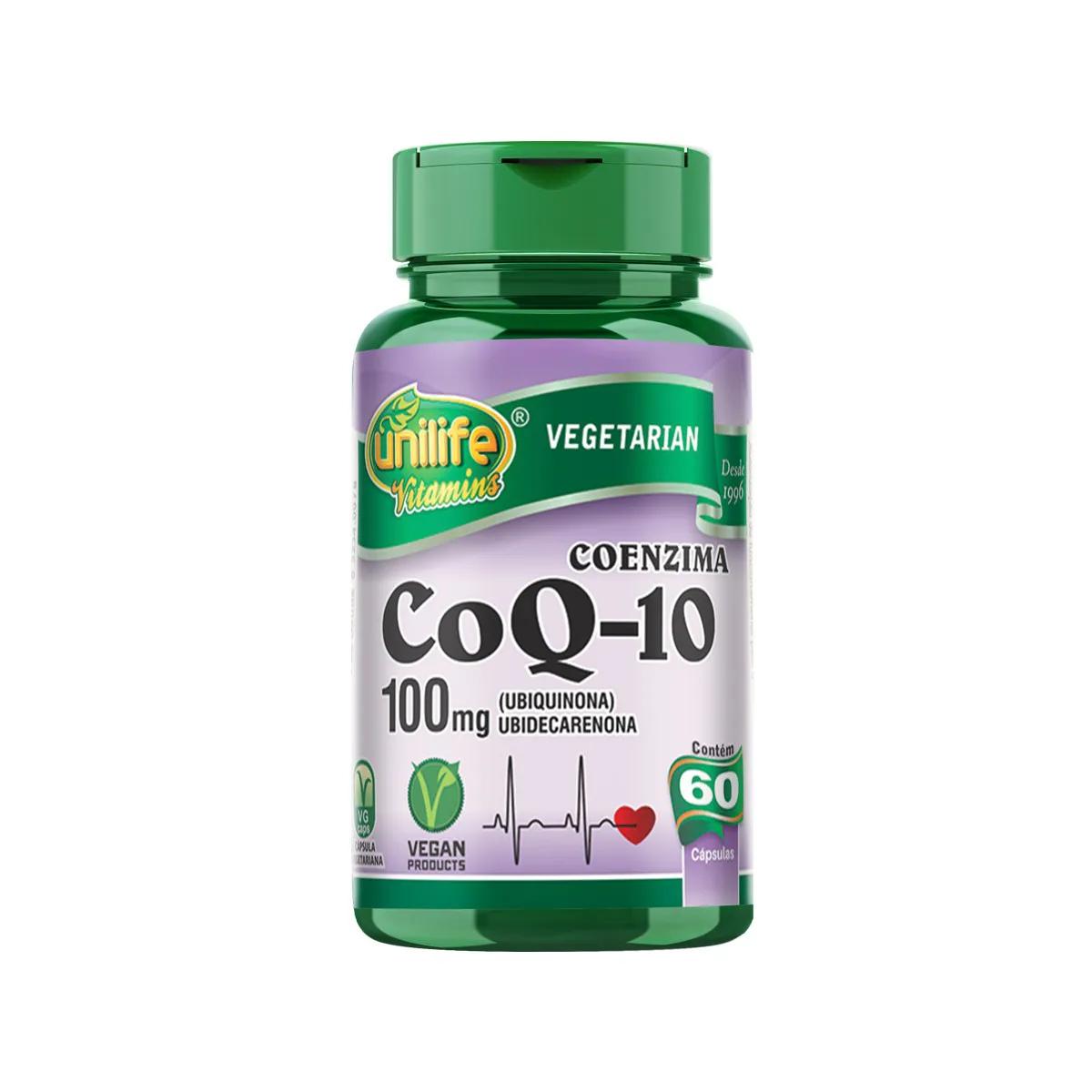 Coenzima CoQ10 Ubiquinona Concentrada 400mg 60 Cápsulas - Unilife