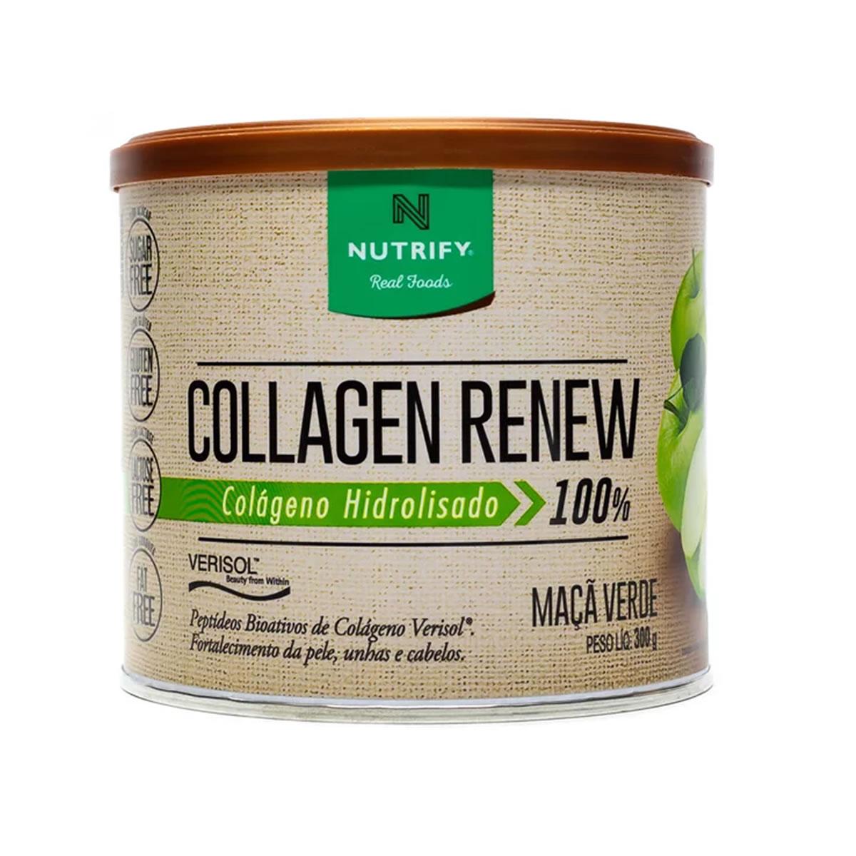 Colágeno Collagen Renew sabor Maça Verde 300g - Nutrify