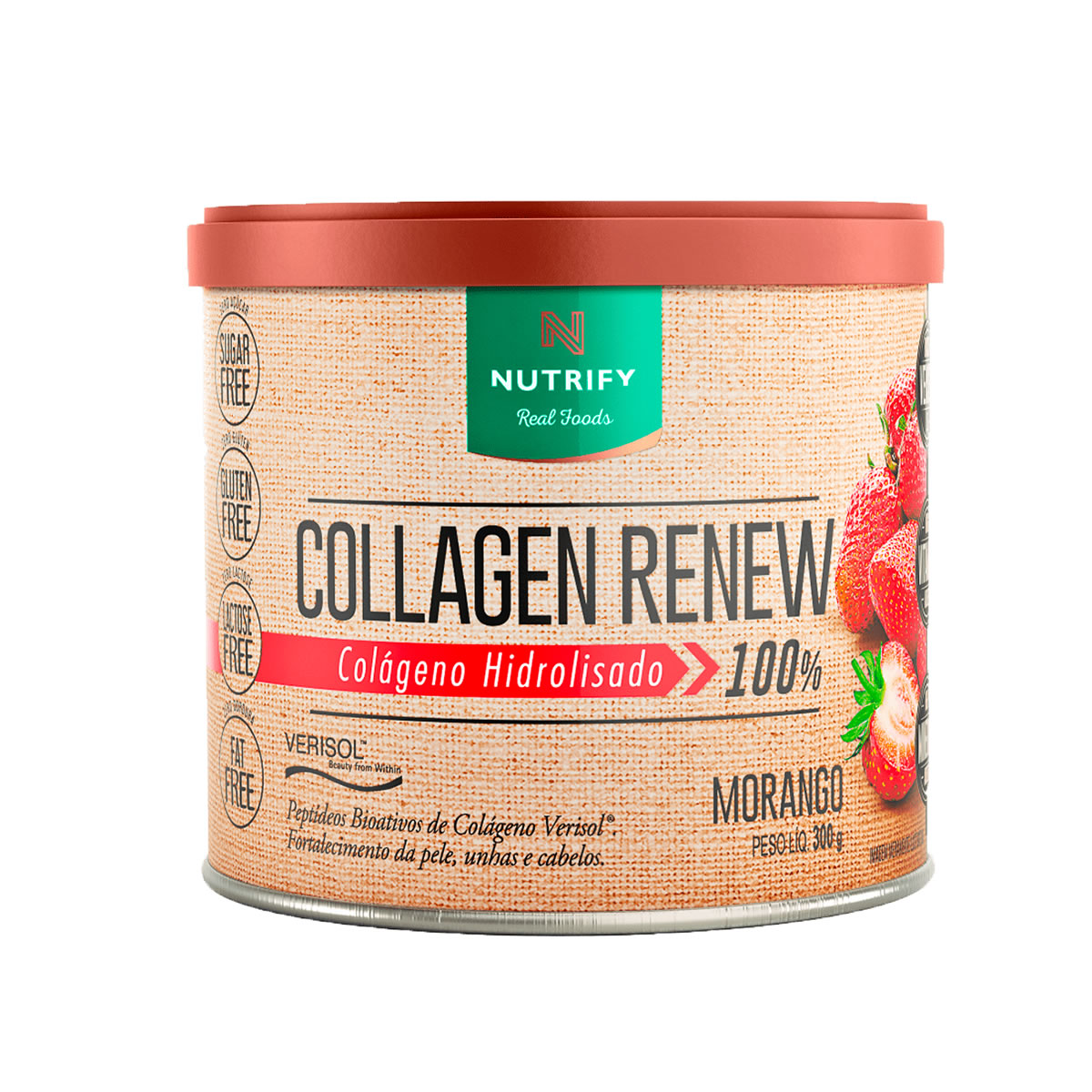 Colágeno Collagen Renew sabor Morango 300g - Nutrify