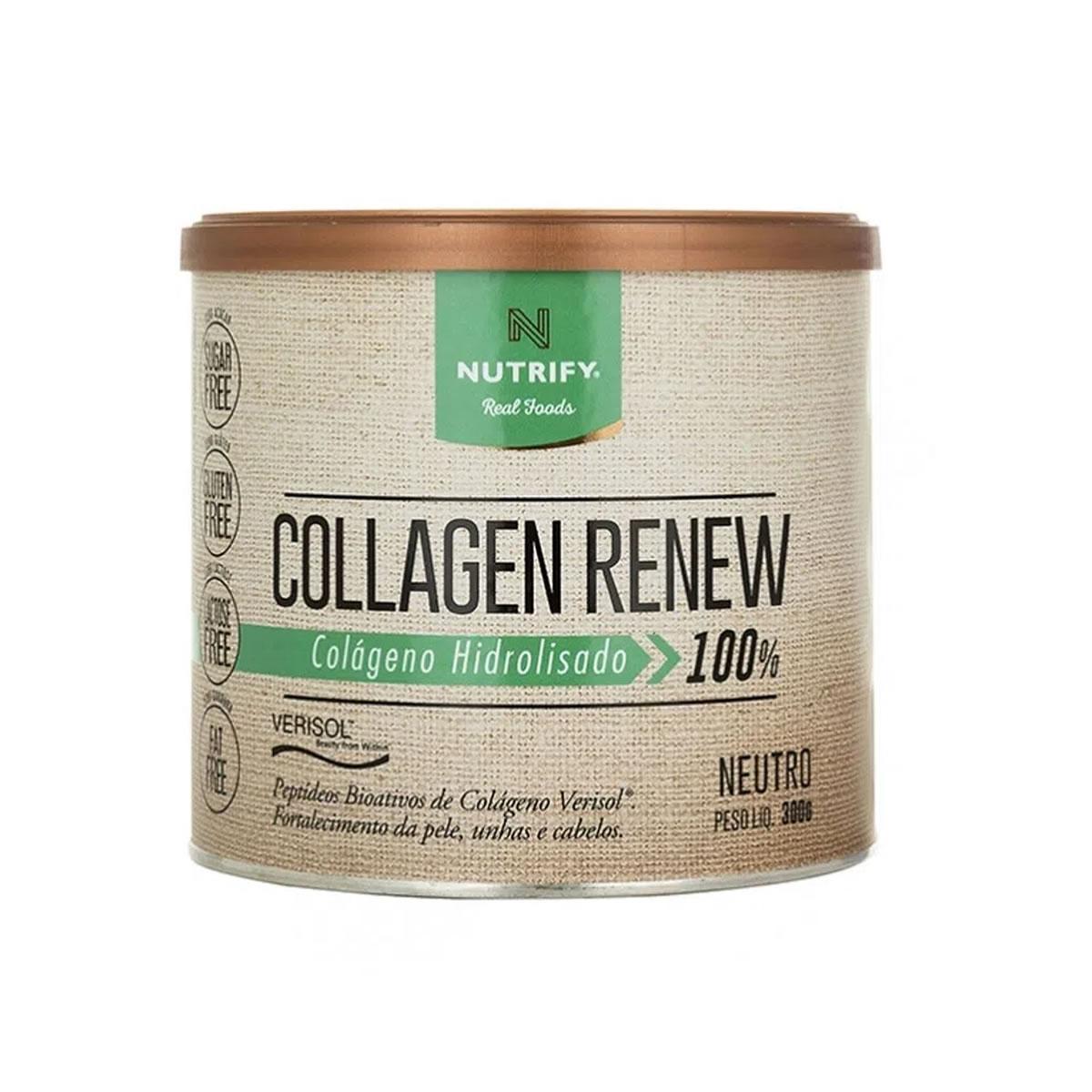 Colágeno Collagen Renew sabor Neutro 300g - Nutrify