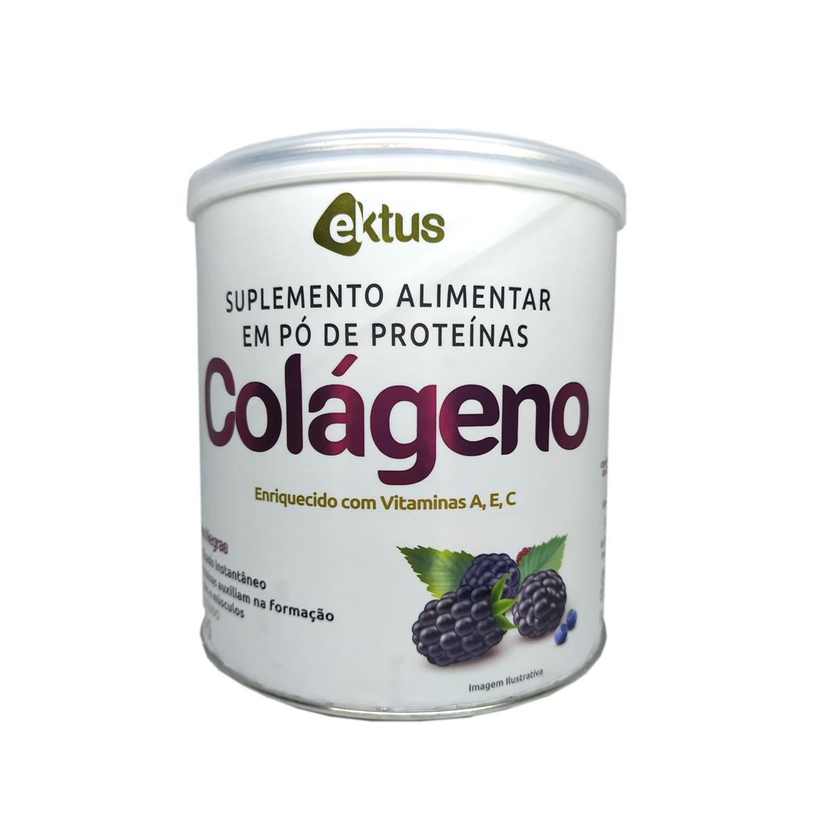 Colágeno em Pó Sabor Frutas Negras 200g - Ektus