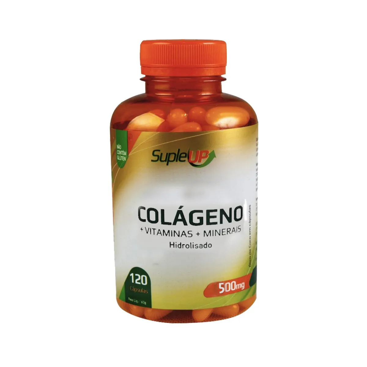 Colágeno Hidrolisado com Vitamina C 1000mg 120 comprimidos - Suple Up