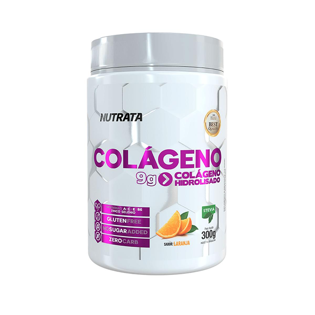 Colágeno Hidrolisado Sabor Laranja 300g - Nutrata