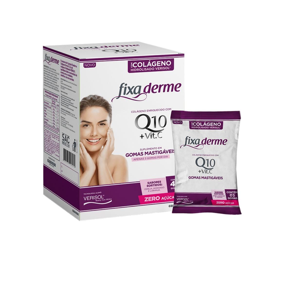 Colágeno Verisol + Vitamina C Fixa Derme em Gomas 45un - Valda