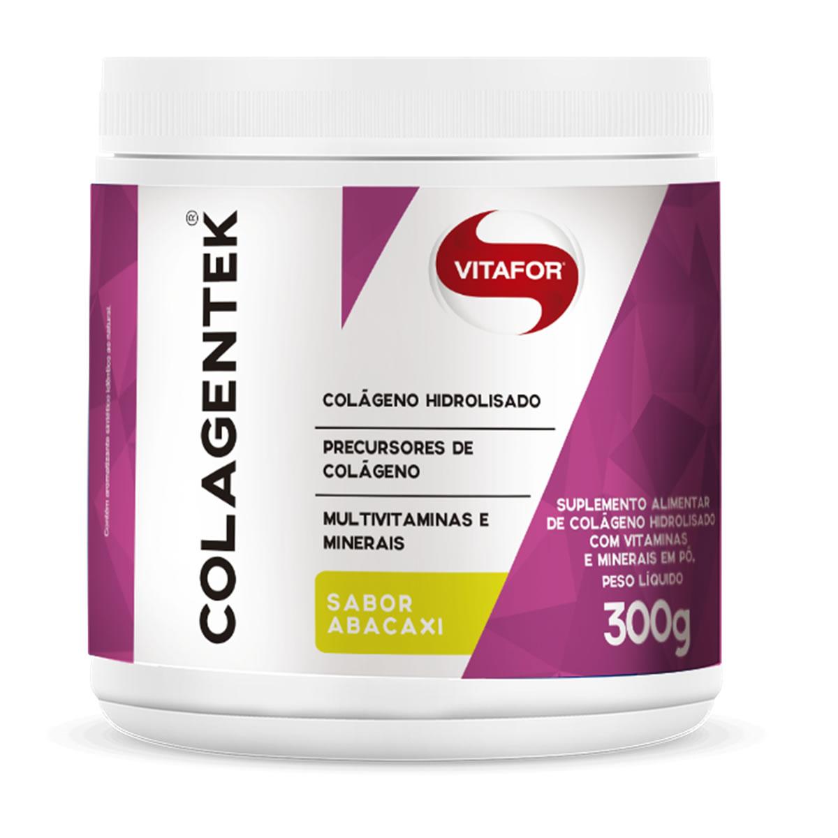 Colagentek Sabor Abacaxi 300g - Vitafor