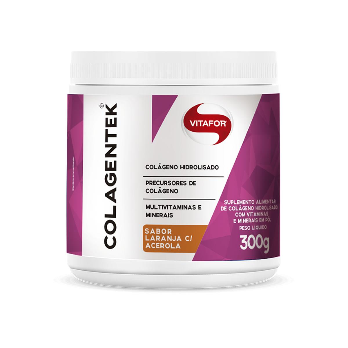 Colagentek Sabor Laranja com Acerola 300g - Vitafor