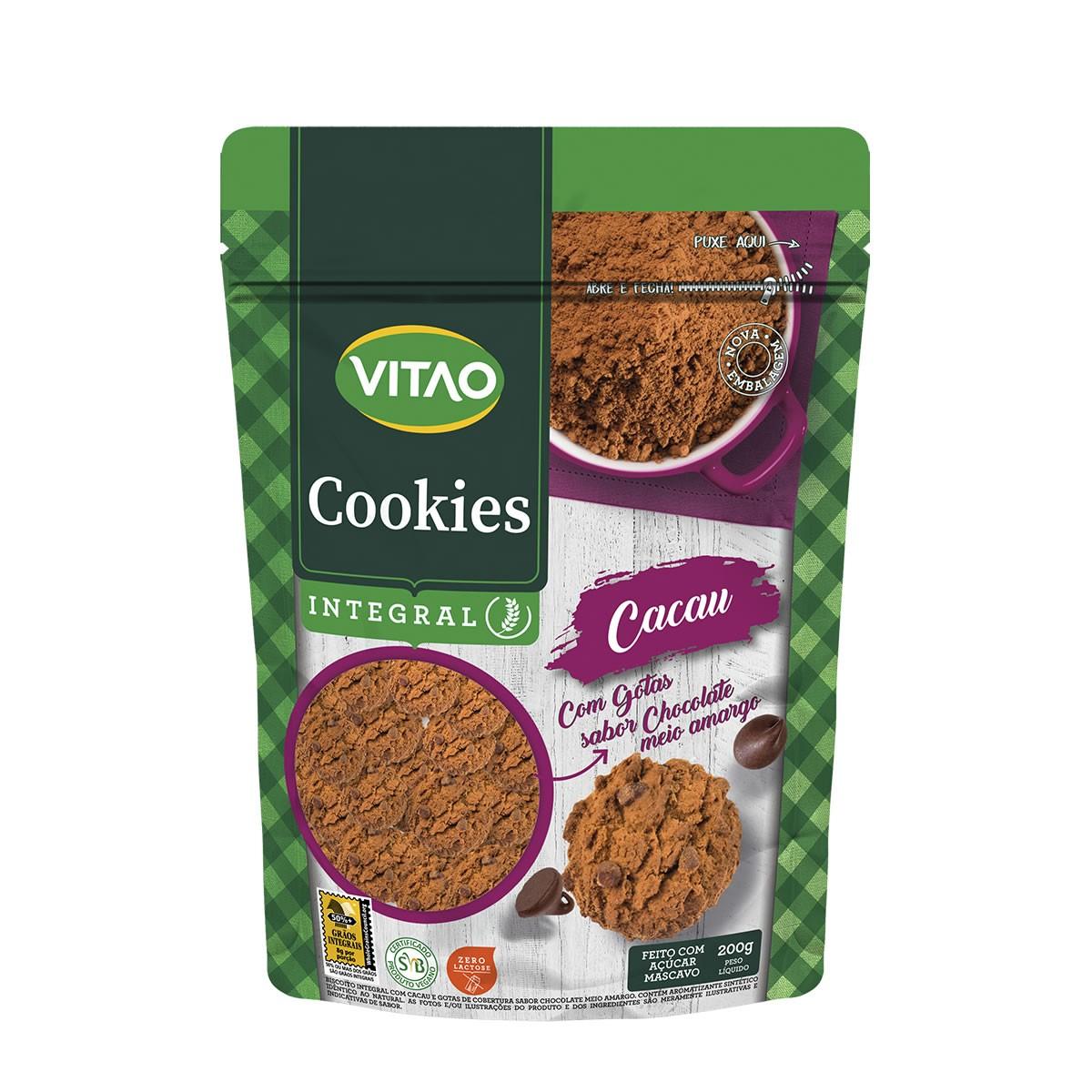 Cookie Integral Cacau com Gotas 200g - Vitao 89