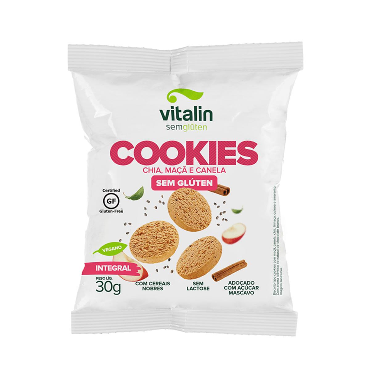 Cookie Sabor Chia, Maça e Canela  30g - Vitalin