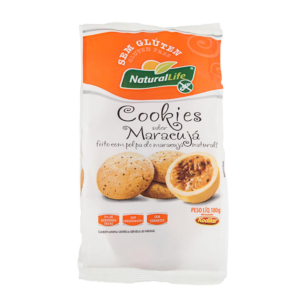 Cookies Sabor Maracujá Sem Glúten 180g - NaturalLife