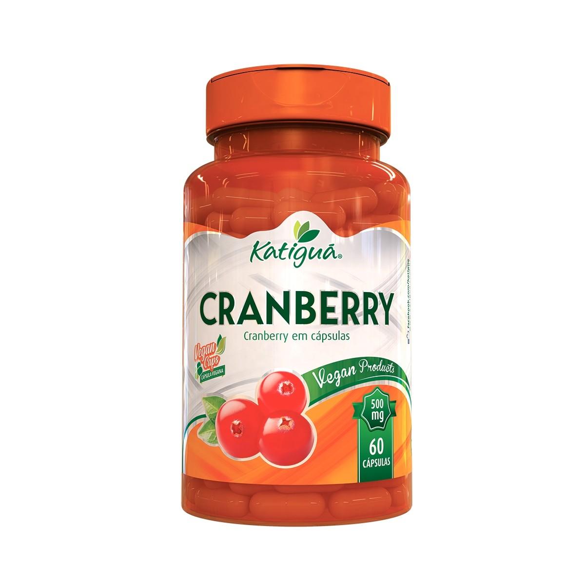 Cranberry 500mg 60 Cápsulas - Katiguá