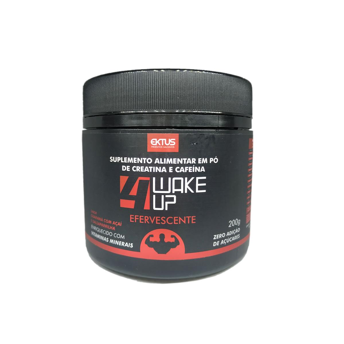 Creatina e Cafeína 4 Wake Up Sabor Guaraná com Açaí 200g - Ektus