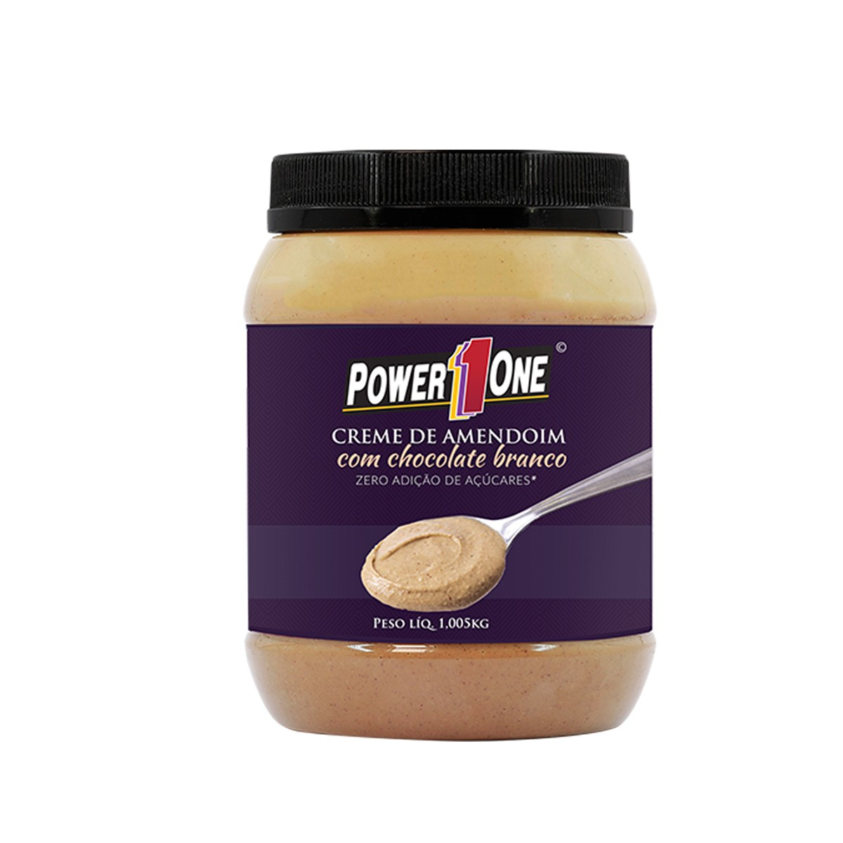 Creme de Amendoim com Chocolate Branco 1,005kg - Power1One