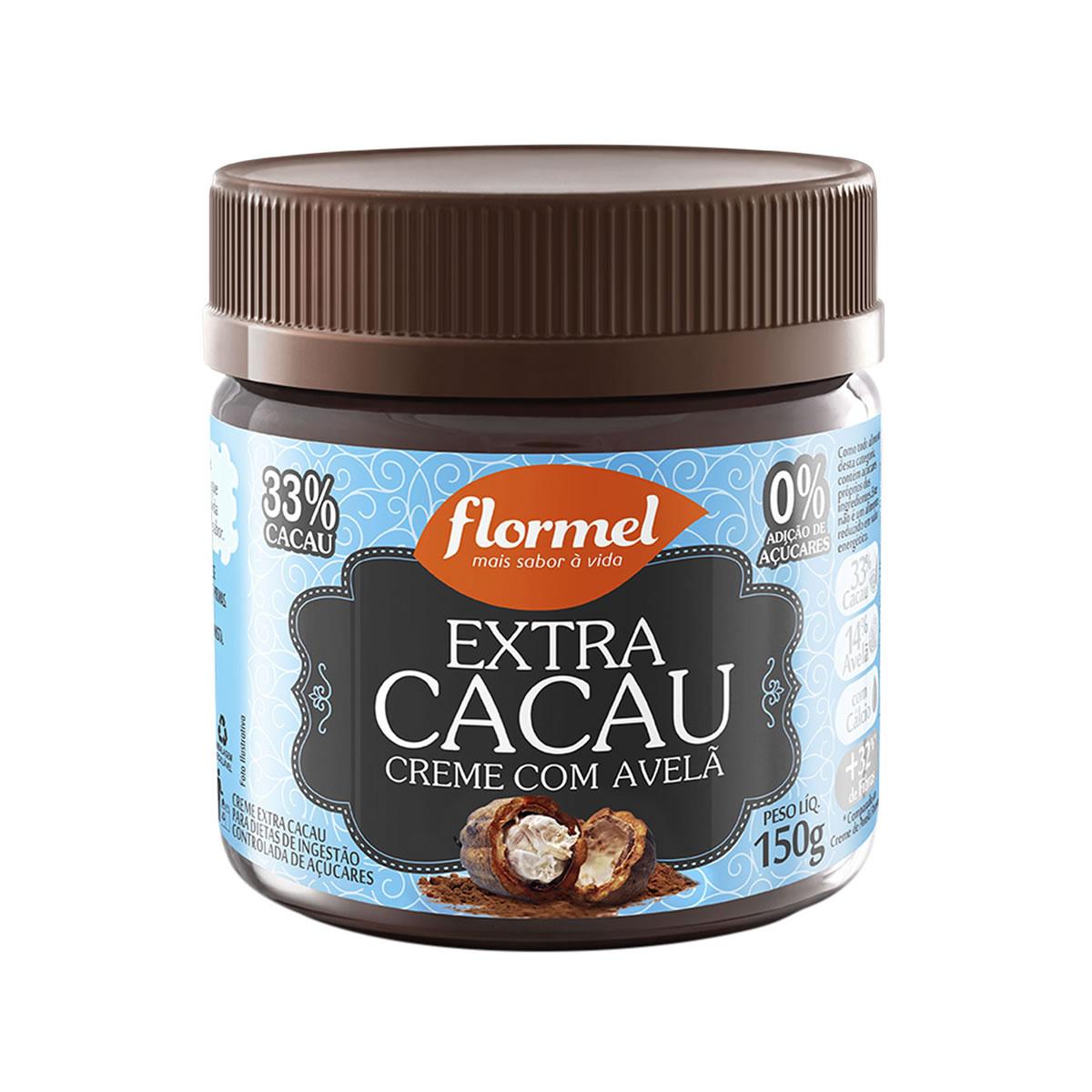 Creme de Avelã com  Extra Cacau Zero 150g- Flormel