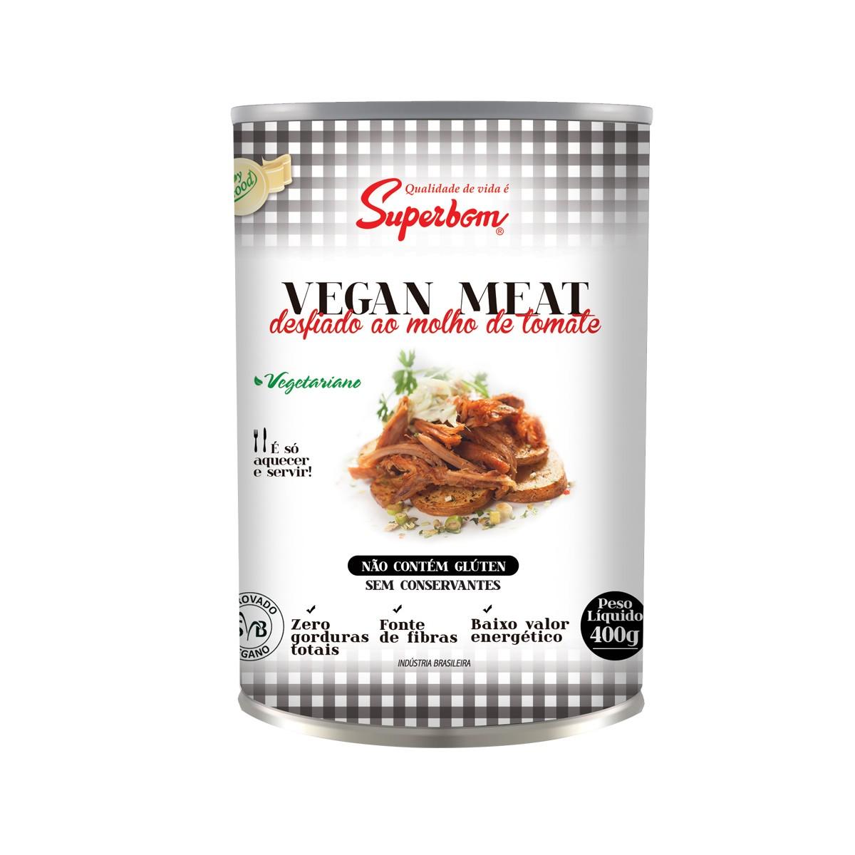 Desfiado ao Molho de Tomate Vegan Meat 400g - Super Bom