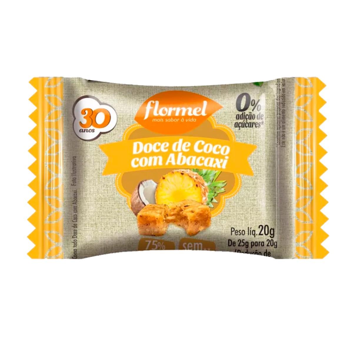 Doce de Coco com Abacaxi Zero 20g - Flormel