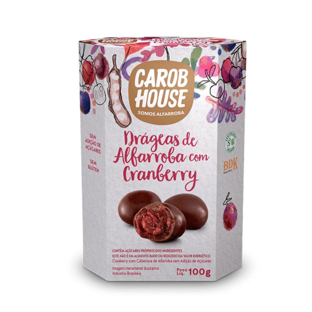 Drágeas de Alfarroba com Cranberry 100g - Carob House