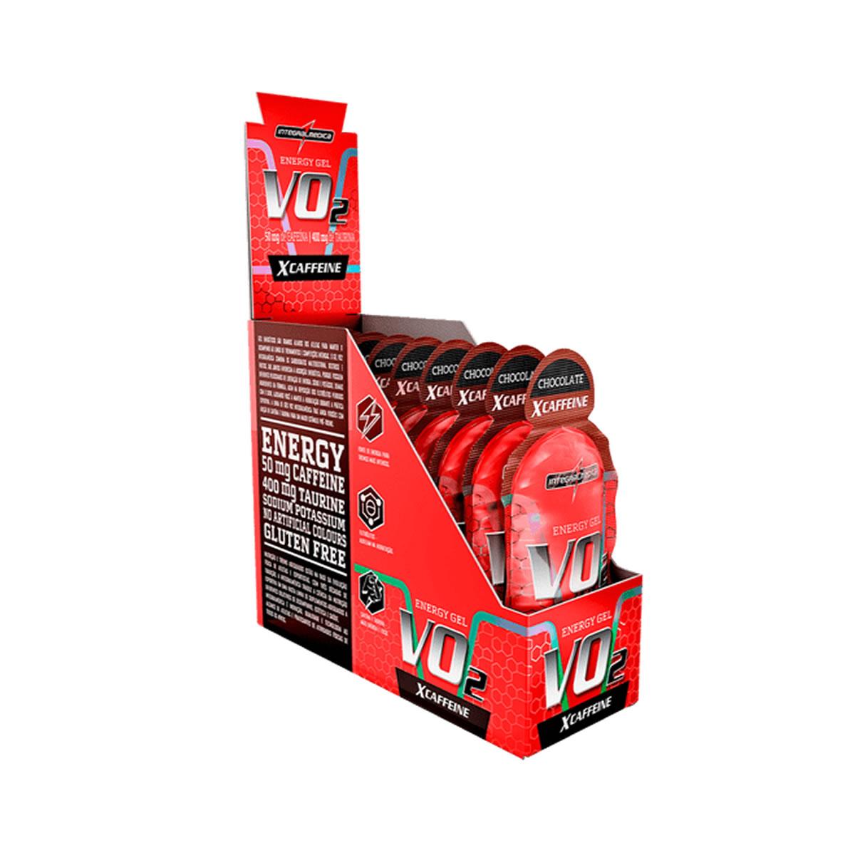 Energy Gel Vo2 XCaffeine Sabor Chocolate Display 10un de 30g - IntegralMedica