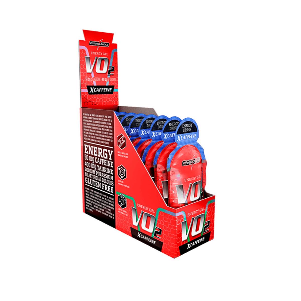 Energy Gel Vo2 XCaffeine Sabor Energy Drink Display 10un de 30g- IntegralMedica
