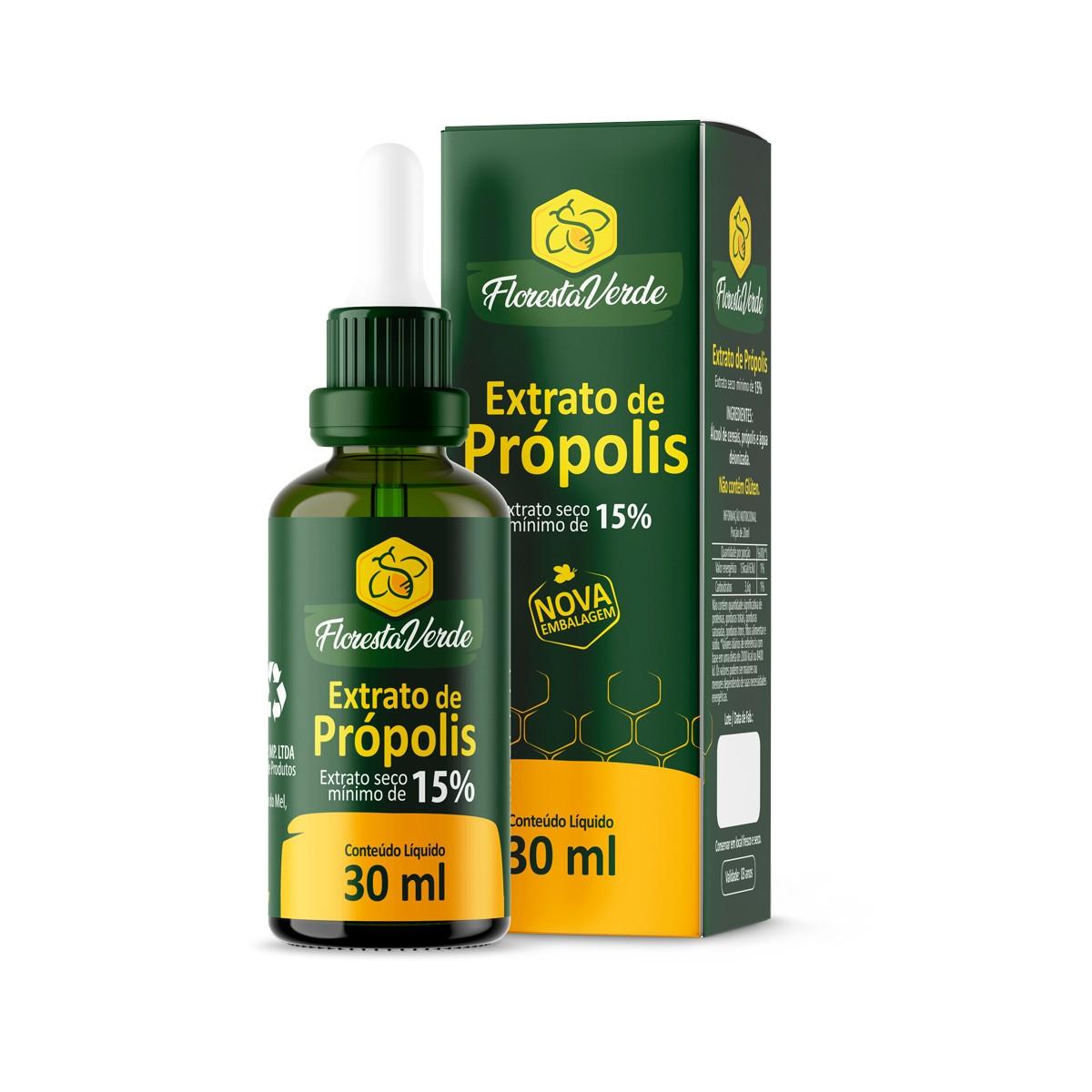 Extrato de Própolis Verde 15% 30ml - Floresta Verde ****