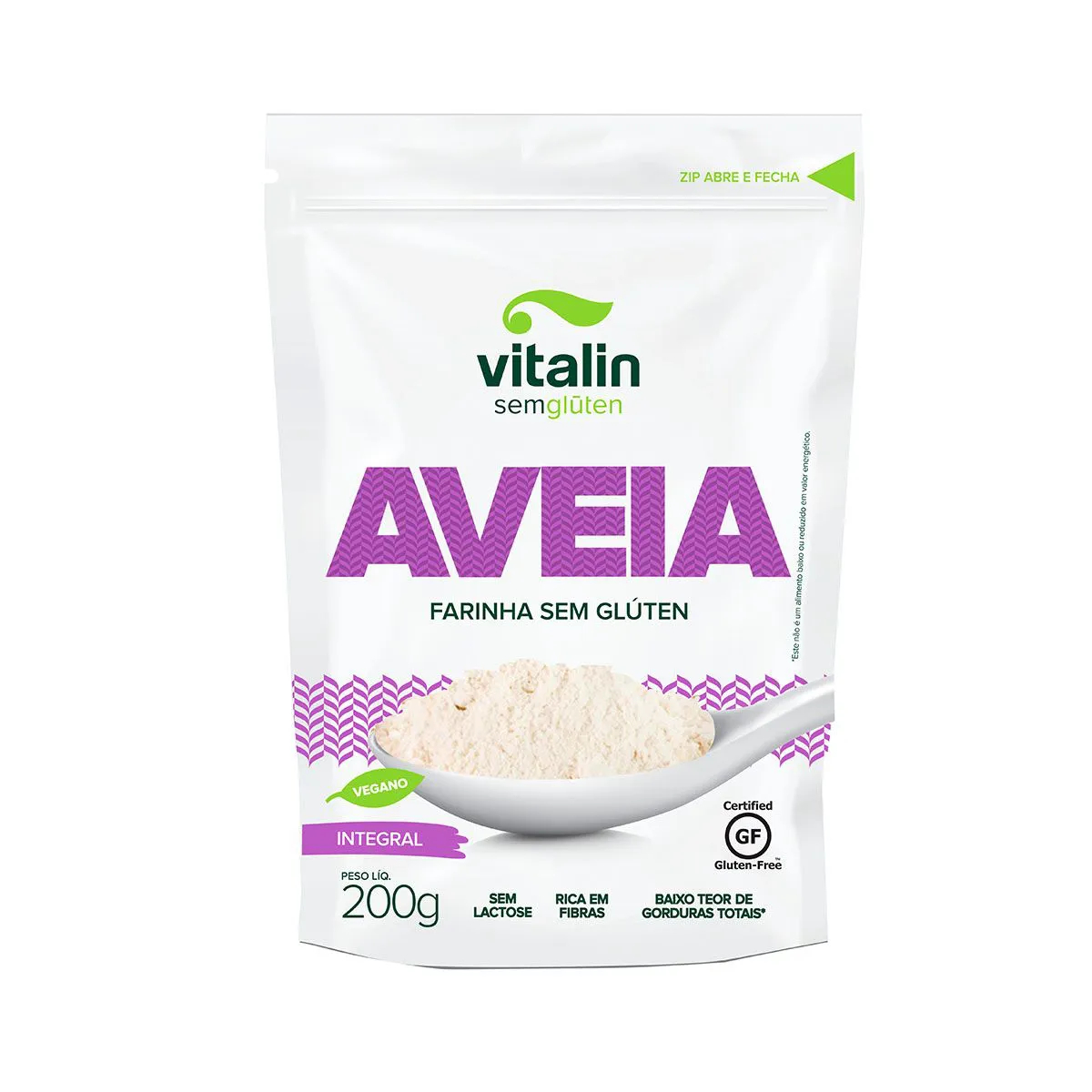 Farinha de Aveia Sem Glúten 200g - Vitalin