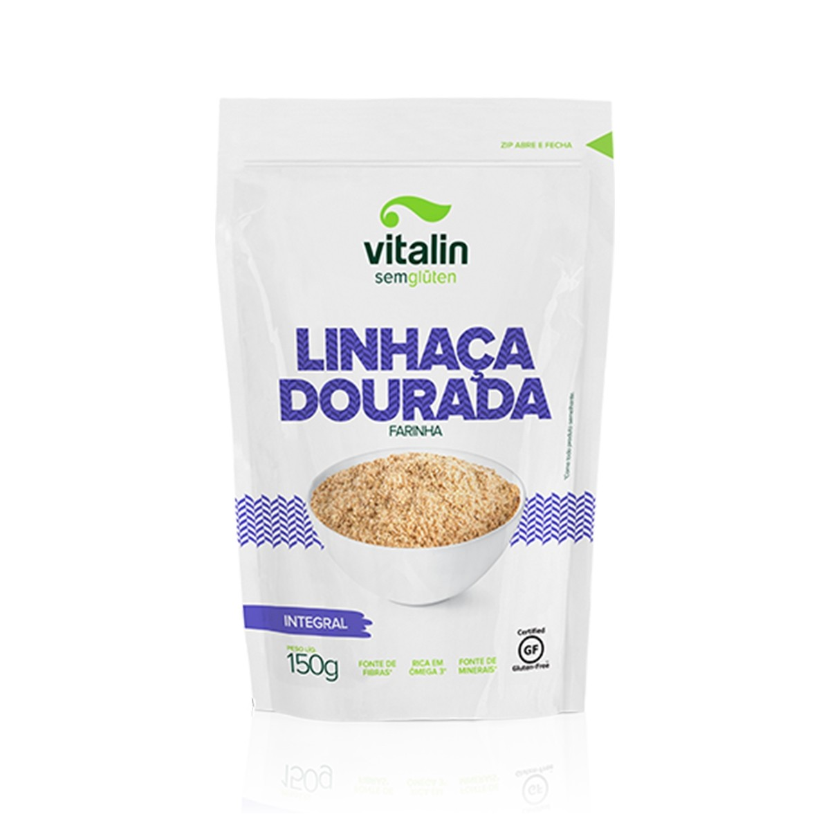 Farinha de Linhaça Dourada 150g - Vitalin