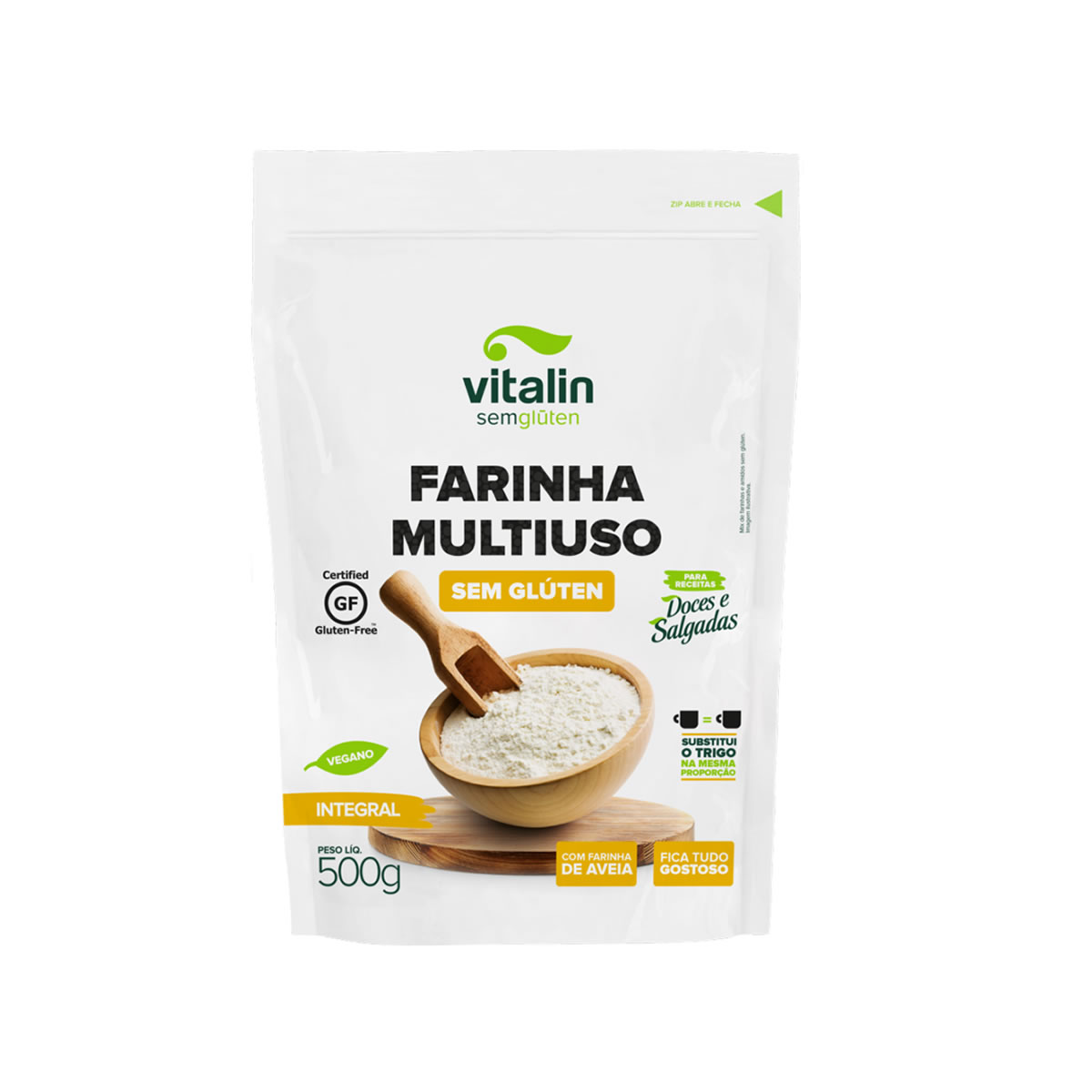 Farinha Multiuso Integral 500g - Vitalin