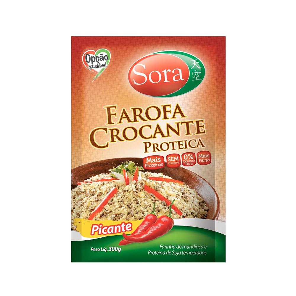 Farofa Crocante Proteica Picante 300g - Sora