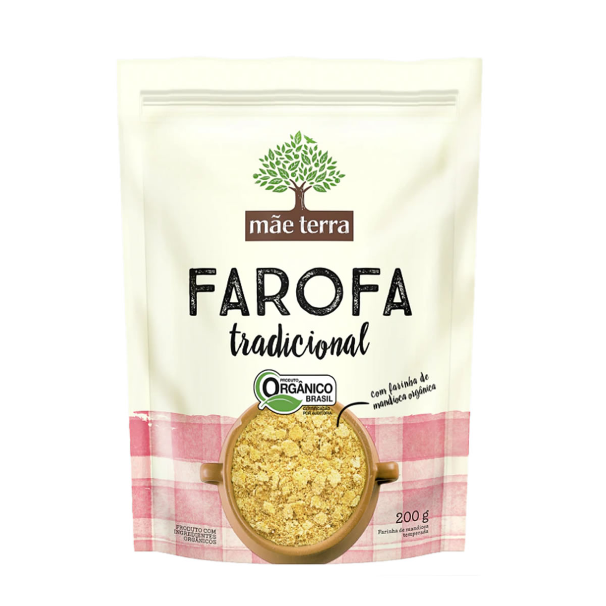 Farofa Tradicional Orgânico 200g  - Mãe Terra