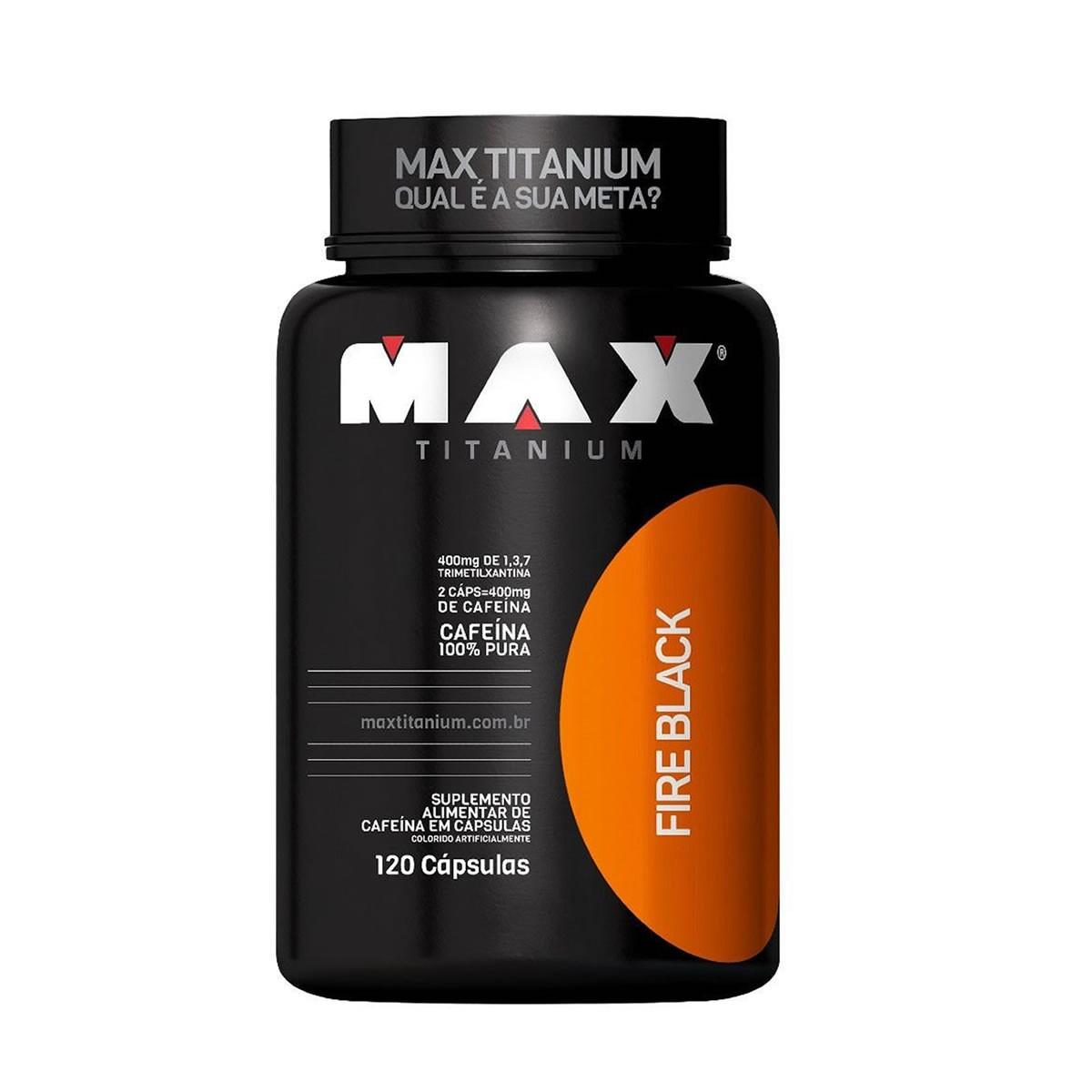 Fire Black 400mg 120 Capsulas - Max Titanium
