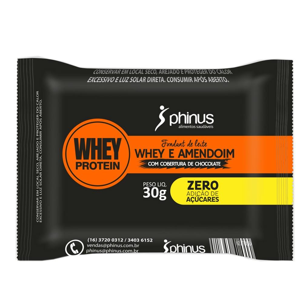Fondant de Leite Zero Whey e Amendoim 30g - Phinus
